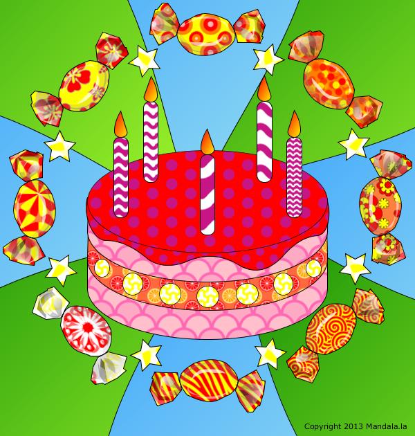 Gâteau et bonbons