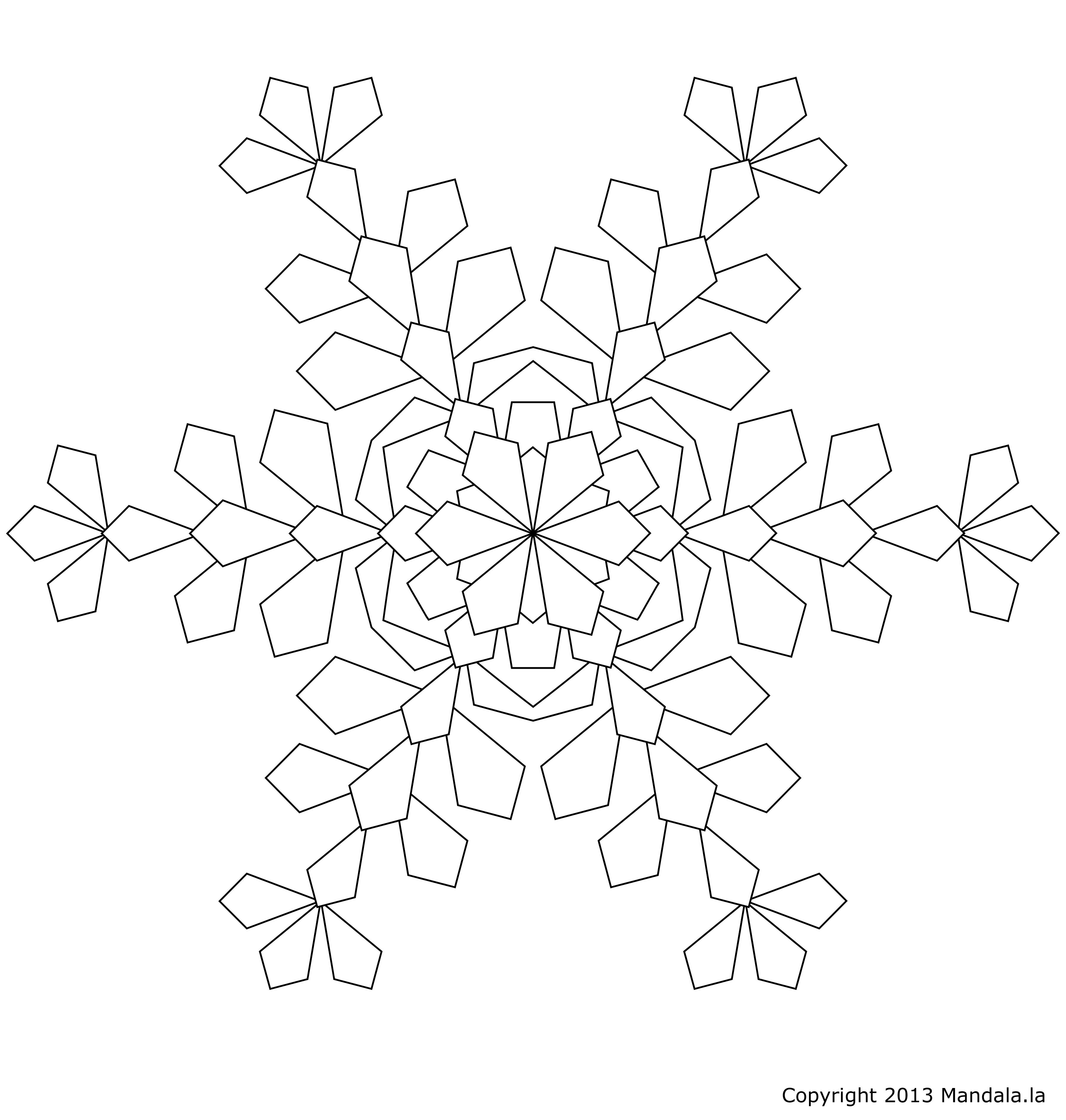 Coloriage Flocon de neige